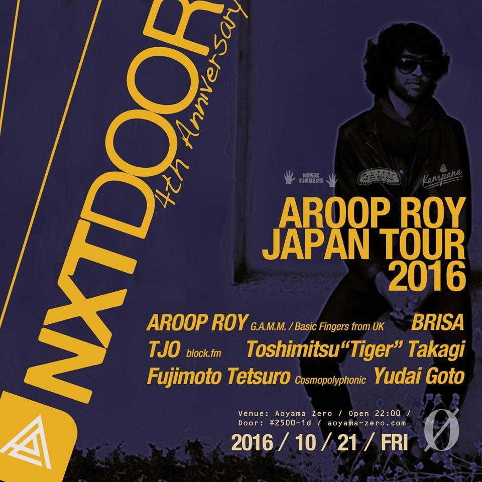 NXTDOOR 4th Anniversary Special presents Aroop Roy Japan Tour