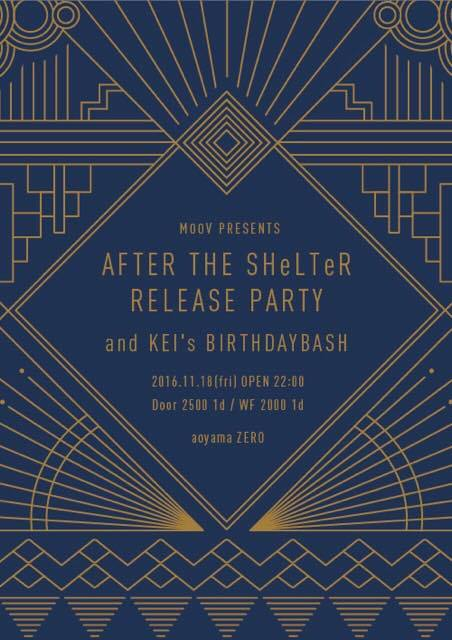 """MOOV presents """"AFTER THE SHeLTeR release party"""" KEI birthday bash"""