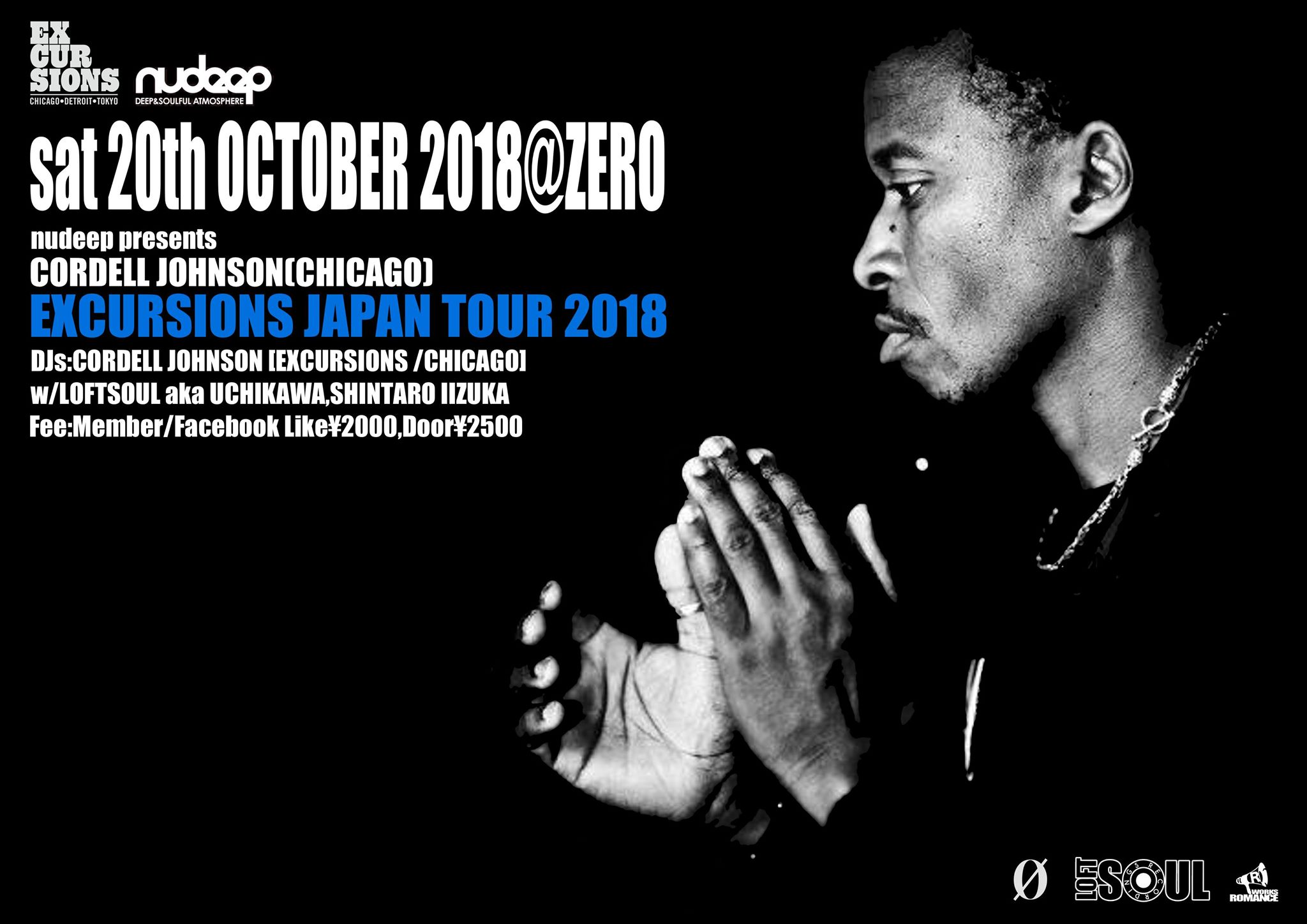 nudeep presents CORDELL JOHNSON(CHICAGO) EXCURSIONS JAPAN TOUR 2018